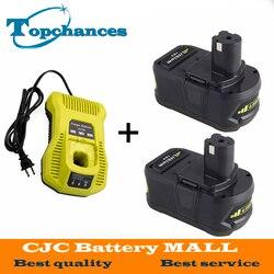 2x18 V 4000 mAh akumulator litowo-jonowy do Ryobi i ładowarka P108 RB18L40 dla jeden + z 12 -18 V P117 ładowarka