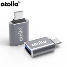 Atolla Universal USB Adaptor Usb C untuk Micro USB OTG Kabel TYPE C Converter untuk MacBook Pro 2018/2017, dell XPS 13 & 15 [Pack Of 2](China)