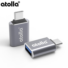 atolla Universal USB Adapter USB C to Micro USB OTG Cable Type C Converter for MacBook Pro 2018/2017,Dell XPS 13 & 15[Pack of 2]