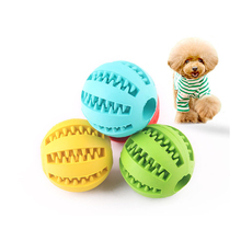 1 pcs Pet dog toys Teeth cleaning balls Watermelon shape chewing Rubber interactive game Leaking food