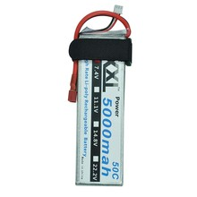 XXL High Power Lipo Battery 2S 7.4V 5000MAH 50C For Toys & Hobbies Helicopters RC Models