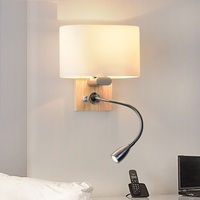 Creative Wood Glass Wall Sconce Band Switch Modern LED Reading Wall Light Fixtures For Bedroom Wall Lamp Home Lighting Lampara
