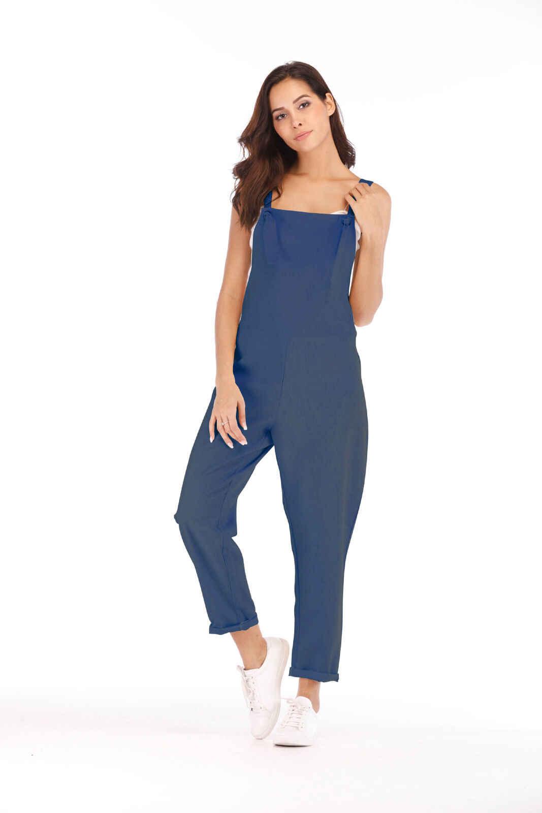 Новый женский комбинезон Бохо без рукавов Летний комбинезон Клубная одежда широкие брюки наряды
