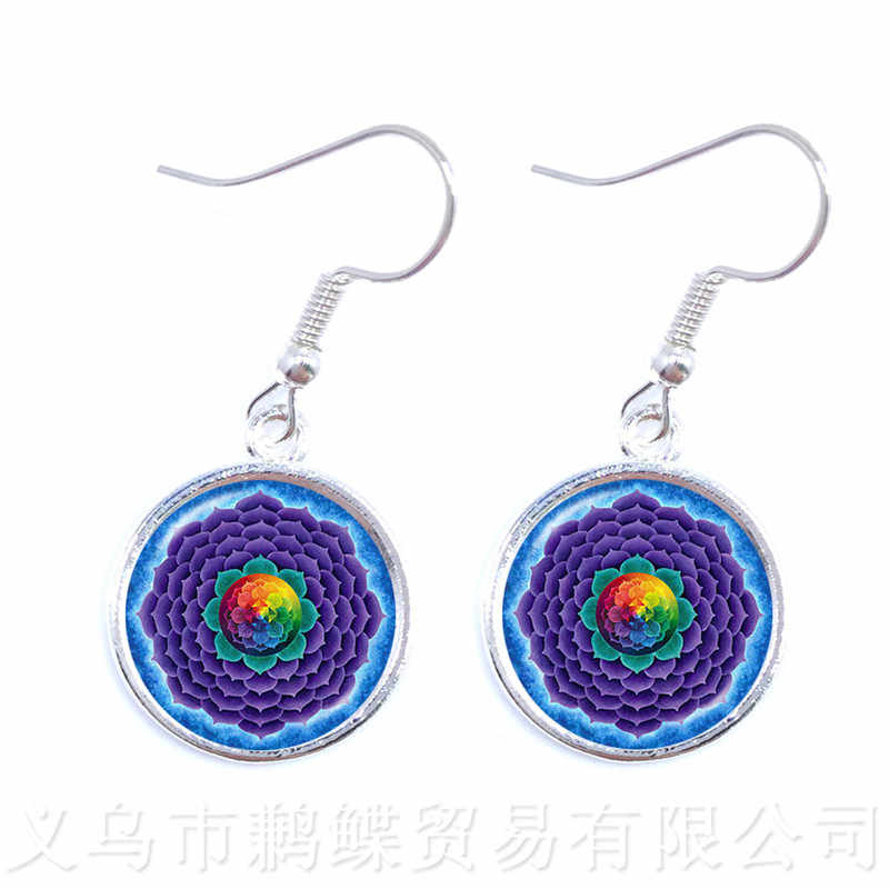 Vintage Jewelry Mandala Earrings Henna OM Symbol Buddhism Zen Online Shopping India 2018 Fashion Drop Earrings For Girl Women