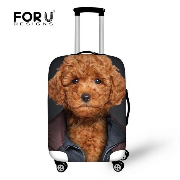 New 3D Animais Cão Bonito Elastic Bagagem Tampas de Proteção Para 18 20 22 24 26 28 30 Polegada de Viagem Mala de Bagagem À Prova D' Água cobrir