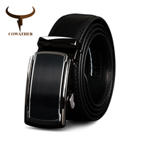 COWATHER Top Cow Genuine Leather Men Belts High Quality Men Automatic Buckle Male Belts Vintage Buckle