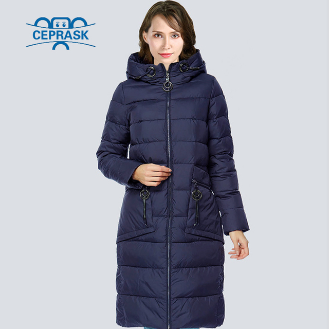 34effeeaa8d CEPRASK 2018 High Quality Winter Jacket Parkas Women Plus Size Long  Fashionable Women s Winter Coat Hooded Warm Down Jackets