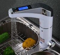 Бесплатная доставка Новый дизайн умный автоматический ЖК дисплей мгновенный Электрический нагрев воды кран