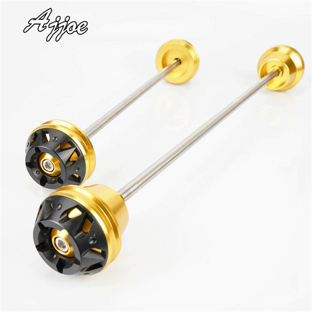 For YZF-R1 2009-2015 / MT-09 2013-2015 Motorcycle Front & Rear Axle Fork Crash Sliders Wheel Protector
