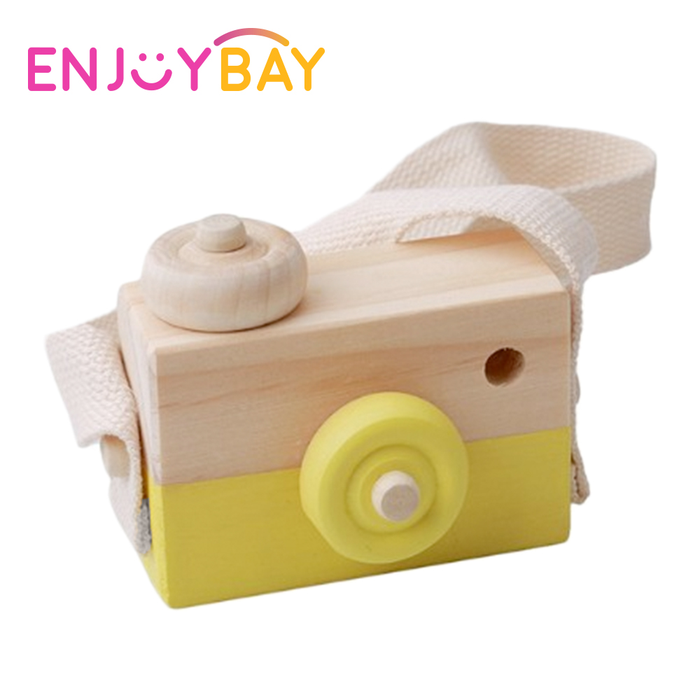 Enjoybay Cute Wooden Camera Toys Kids Hanging Camera Photography Decorations Educational ...