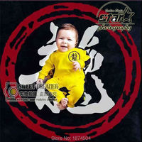 2017 Brand Novelty Rompers Chinese Kongfu Bruce Lee Baby Boy Clothing 0 6M 100 Cotton Super