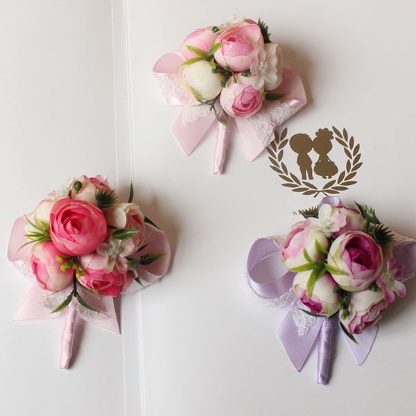 Korean Wedding Flowers: 2PCS Korean Wedding Brooch Hand Flower Bride Groom
