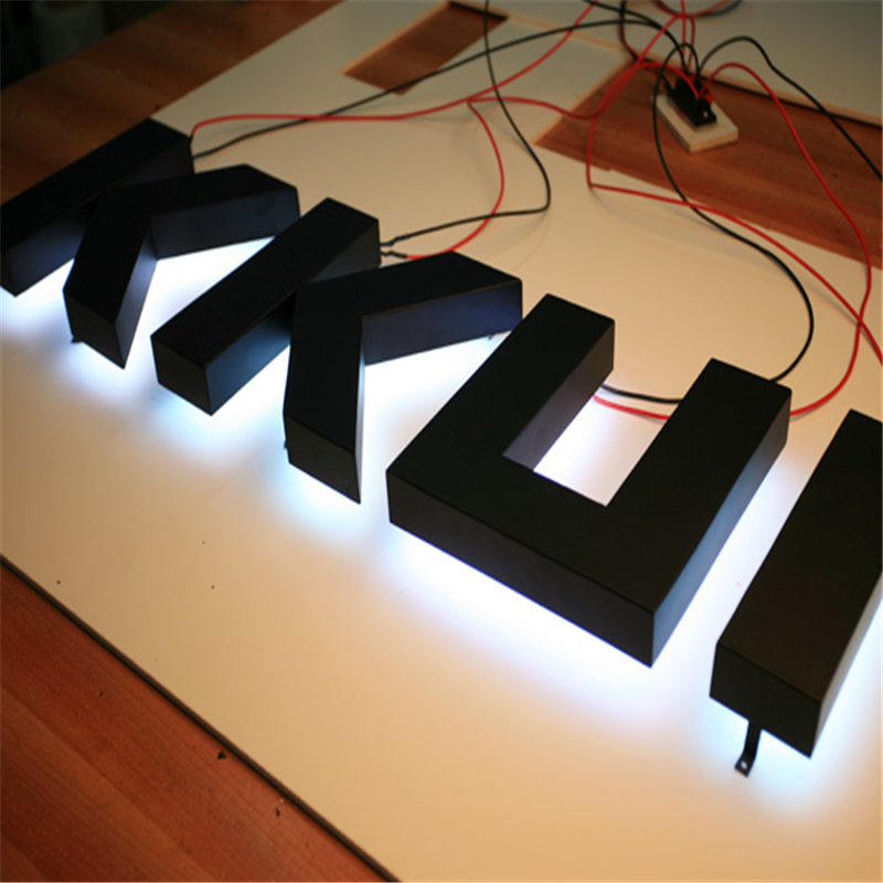 Factory Outlet Outdoor Stainless Steel Backlit Shop Signs
