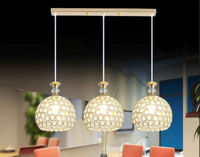 Moderne eenvoudige restaurant hanglampen creatieve crystal bar