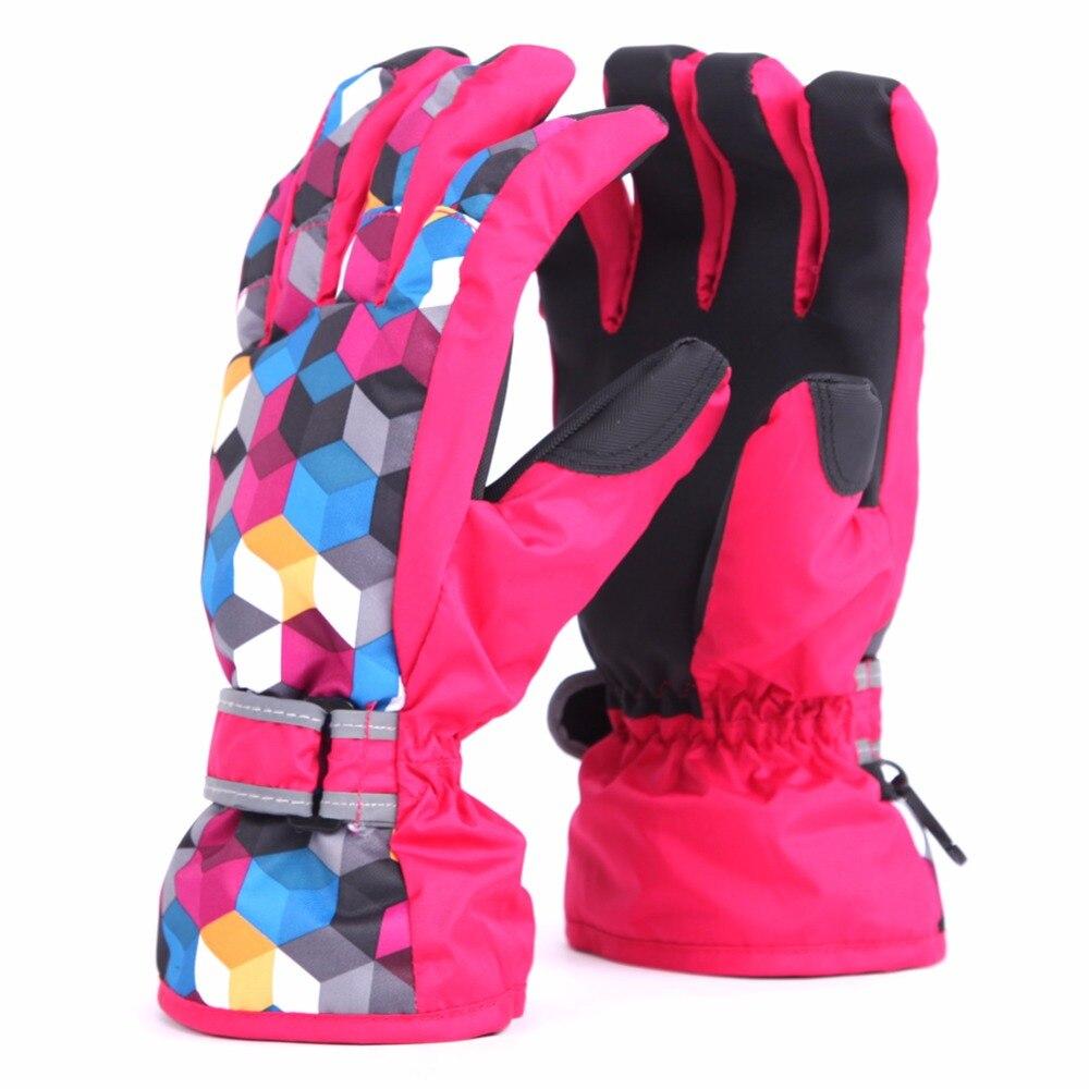 Women Winter Warm Windproof Ski Gloves Outdoor Sports Comfortable Womens Kids Snowboard Gloves Skiing Gloves Girls