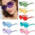 3081b7286d 2019 mujeres Vintage Oval sin montura de corte de borde gafas de sol verano  brillo Color