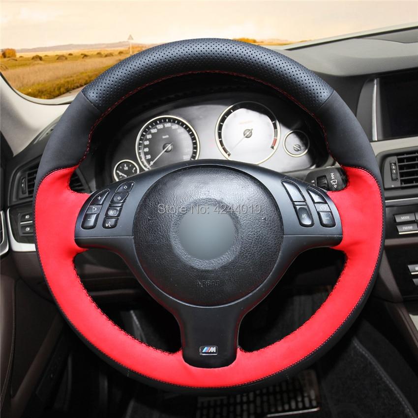 Voiture couvre volant En Cuir Wrap Suede Coudre À La Main bricolage Pour BMW E46 E39 330i 540i 525i 530i 330Ci M3 2001- 2003