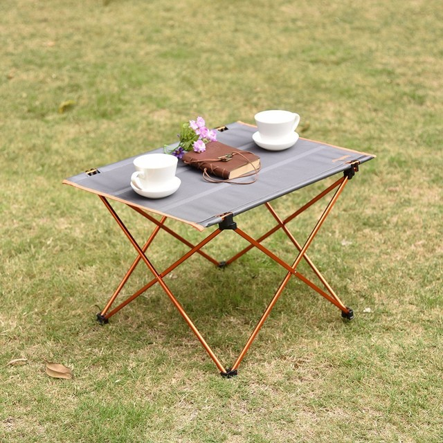 Outdoor Folding Table Aluminium Alloy Camping Picnic Table Waterproof Ultra  Light Durable Folding Table Desk