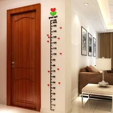 Wallpaper Kid Room Decor Height Ruler Measure Chart DIY 3D Acrylic Crystal Wall Stickers Removable Happy Sale