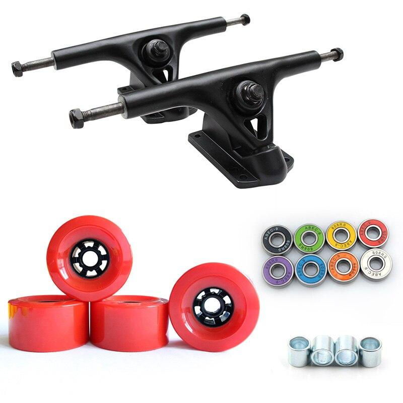 Nouveau 8 pouces Longboard camion 97*52mm 78A Skateboard roues planche à roulettes électrique grande roue route roue ABEC-9 roulements 270mm pont - 4