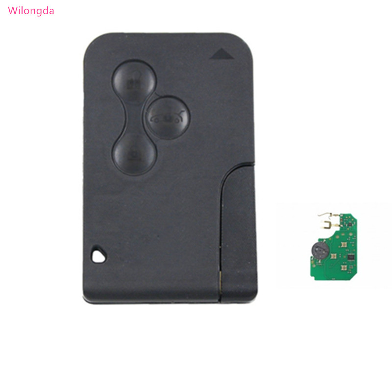 Wilongda Auto remote key smart card key 3 Button 433Mhz 7926ATT pcf7947 chip for Renault Megane