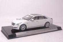* White 1:18 Cadillac CT-6 CT6 2016 Luxury Alloy Models White Rare Miniature Car Auto Modell CT 6