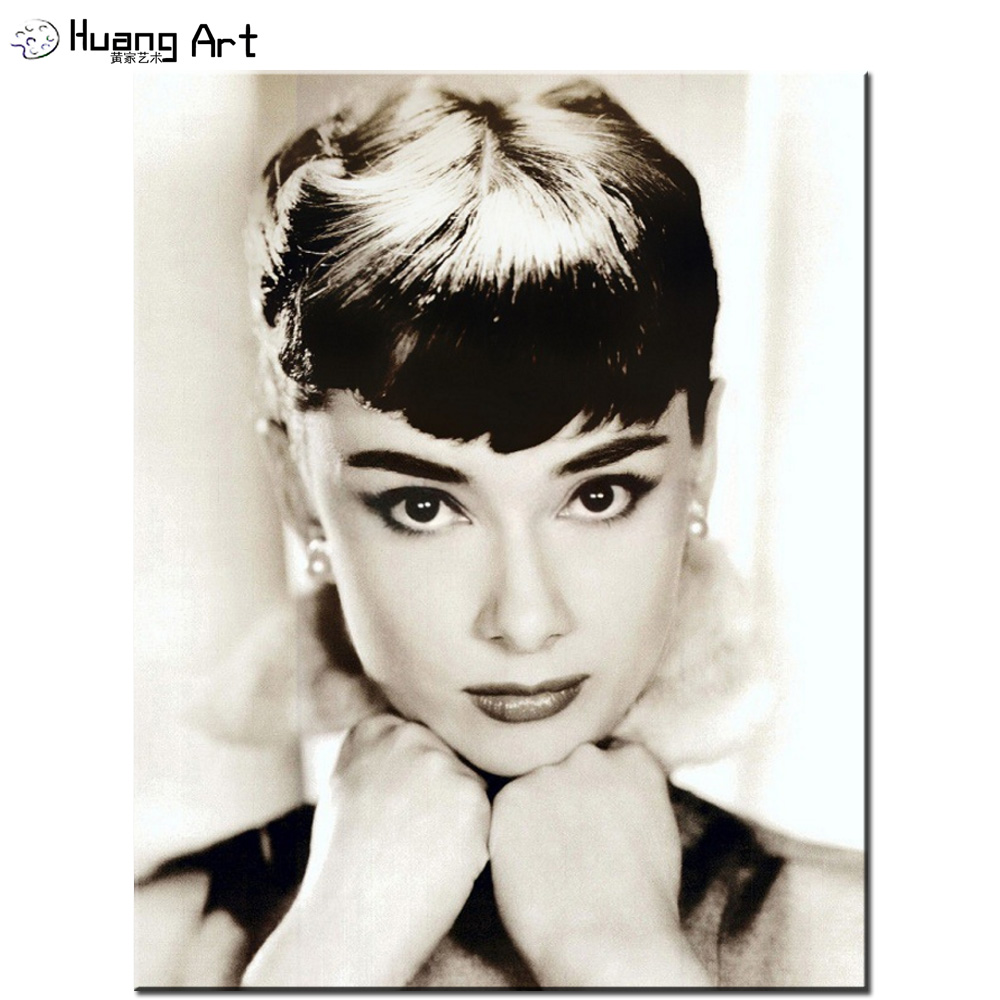 Buy digital painting hand painted audrey for Audrey hepburn pictures to buy