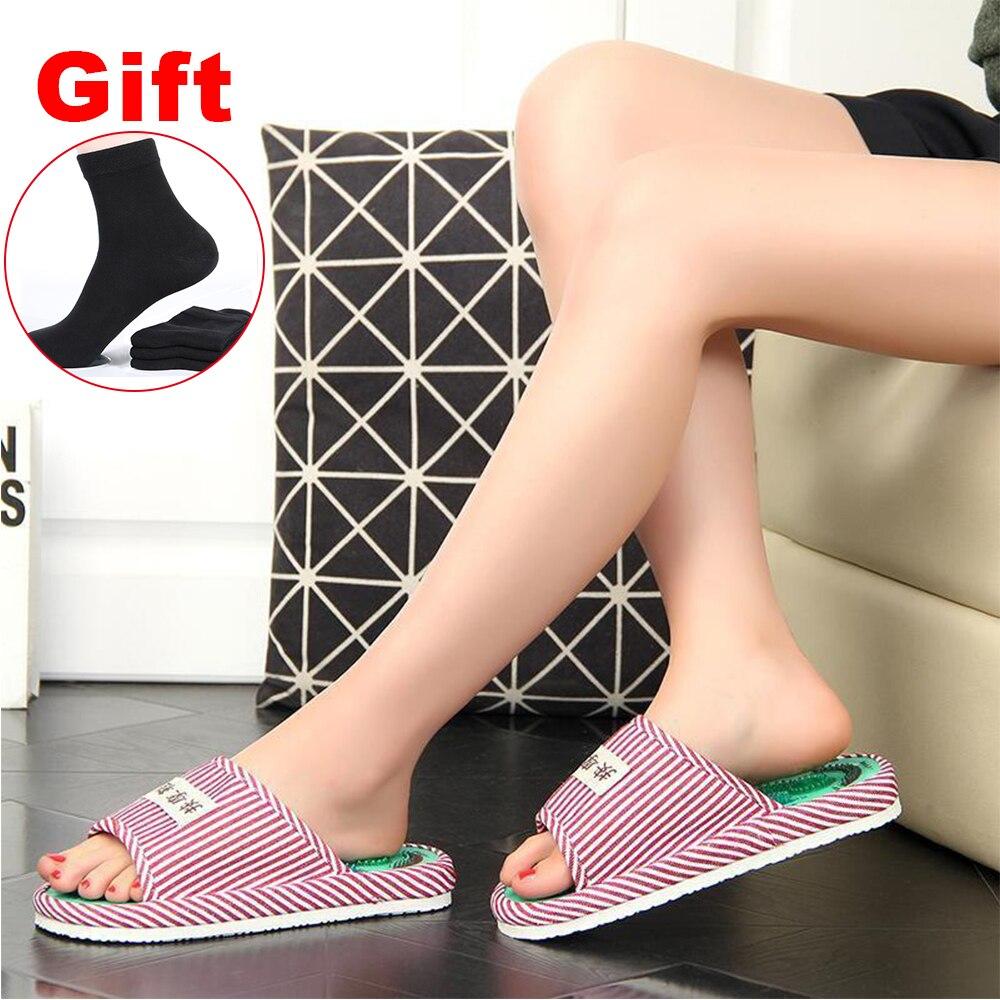 Ifory Frauen Reflexzonenmassage Fuß Massage Hausschuhe Magnetische Akupunkturpunkt Pantoffel Massage Entspannung Schmerzen Relief Gesundheit Fuß Pflege Schuhe