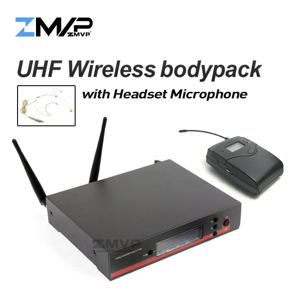 High Quality 122 G3 Professional UHF Wireless Microphone Wireless Karaoke System With Bodypack Transmitter Headset Microphone free shipping uhf professional sx 14 wireless microphone system with bodypack headset microphone band j3 572 596mhz