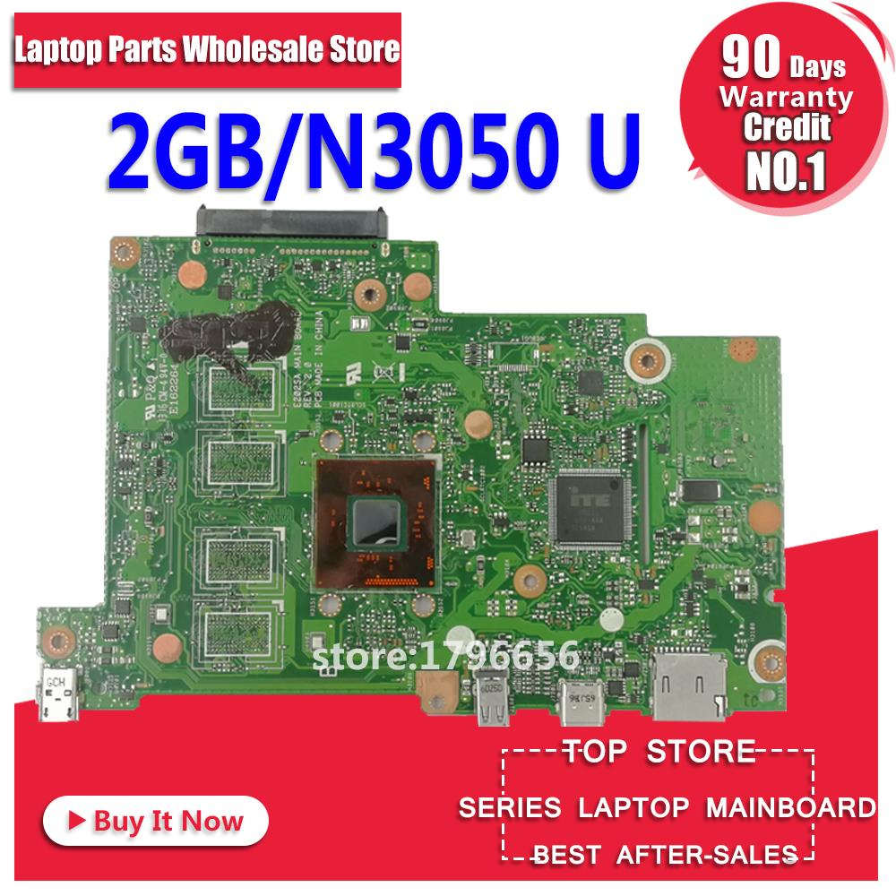 E202SA Motherboard 2GB RAM N3050 For ASUS E202SA E202S laptop Motherboard E202SA Mainboard E202SA Motherboard test 100% ok ноутбук asus e202sa intel n3700 2gb 500gb 11 6