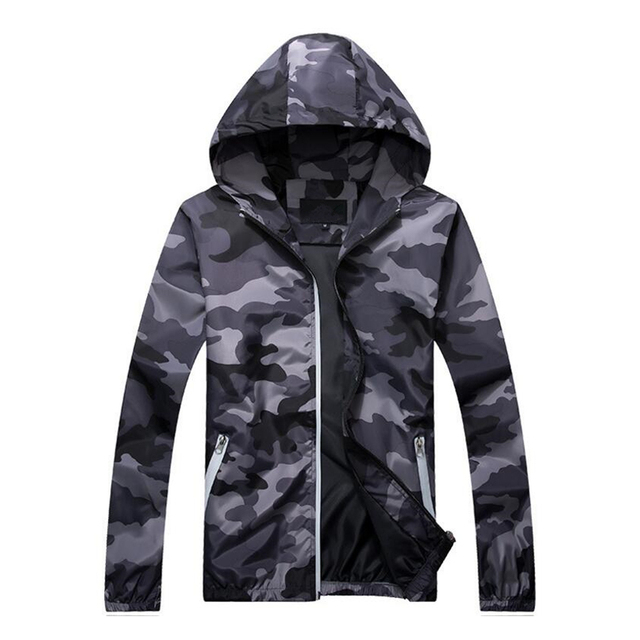 Plus Size 5XL Spring Autumn Jacket Mens Casual Camouflage Hoodie Jackets And Coats Clothes Men's Windbreaker Coat Male Outwear  4