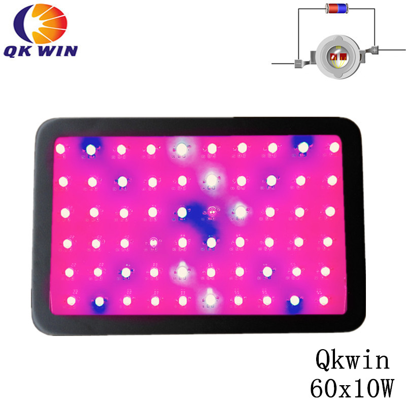 Qkwin 600W Double chip LED Grow Light 60x10W True Power 142W Full Spectrum Hydroponic Planting shipping 3pcs lot double chip qkwin 600w led grow light 60x10w double chip full spectrum for hydroponic planting shipping