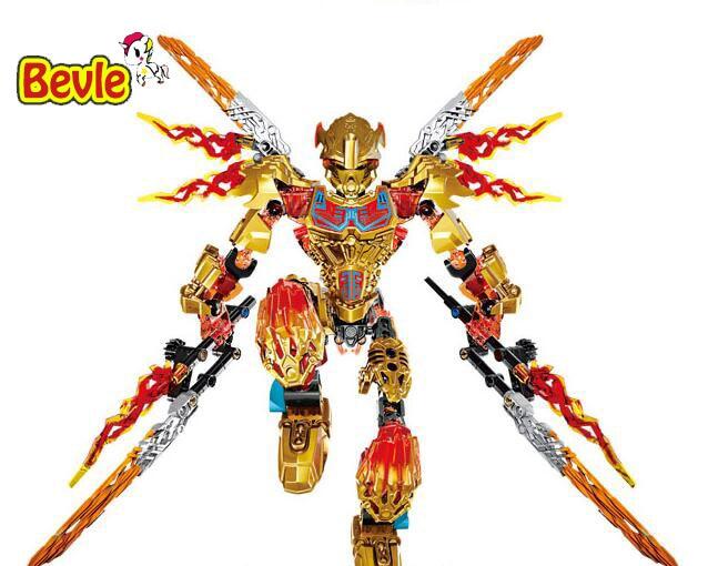 XSZ 612-4 Biochemical Warrior BionicleMask of Light Bionicle Tahu Ikir Building Block Compatible with Toys