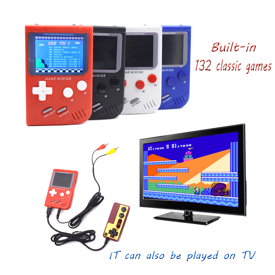 Game Electronics Retro Video Game Console Portable Mini Console TV  Handheld Game Players Built-in132 Classsic for GBA Game
