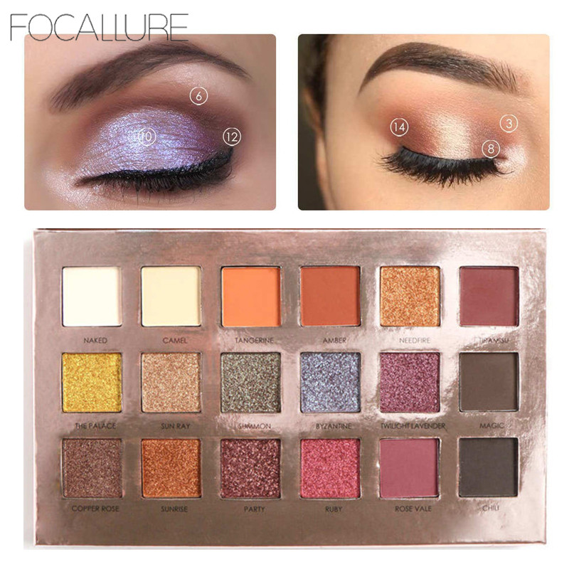 18 Colors Matte Eyeshadow Palette Shimmer Eyeshadow Professional Mineral Powder Long Lasting Pigment Eyelid Tint Cosmetics 1pcs 24 inch 100
