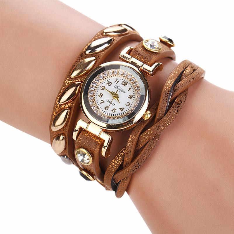 חמה למכירה 2018 מוצרים Femmes מצב חלוק Femmes Montre-צמיד En Cuir צמיד מזדמן גבירותיי אופנה שעונים relojes mujer