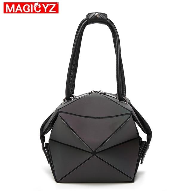 Luminous Geometric Fold Over Bag 2