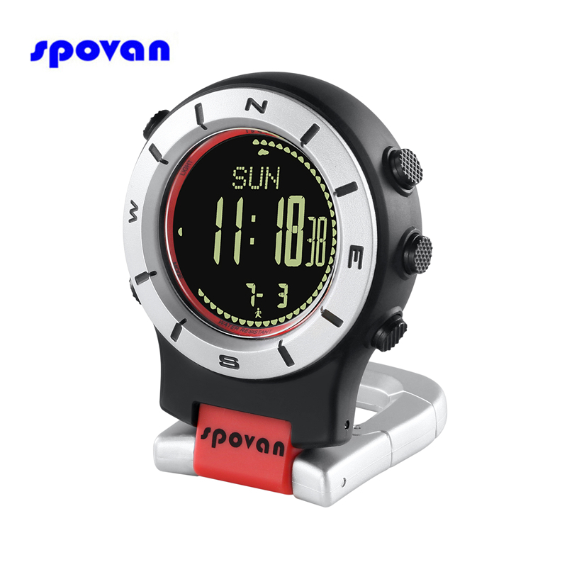 Digital Pocket Watch 30M Waterproof Men Women Military Sport Barometer Altimeter Thermometer Compass Digital Watch Clock