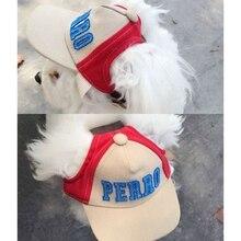 Summer Pet Dog Baseball Hat Alphabet Cap Small Outdoor Canvas Accessories
