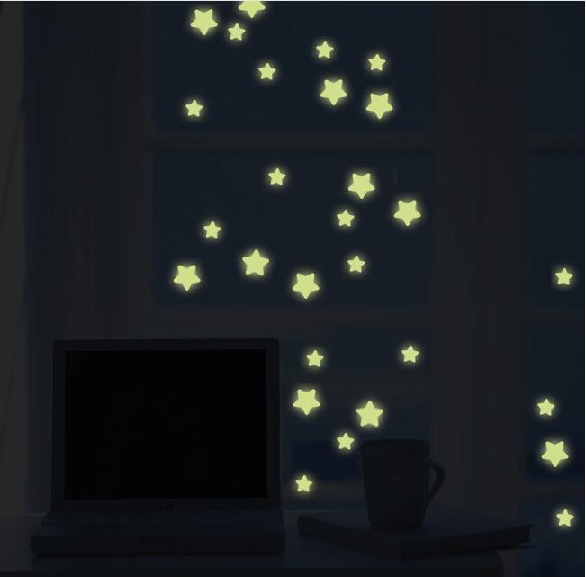 Бесплатная доставка Дешевые красивый световой метеорный поток стикер люминесцентные звезды светятся в темноте световой люминесцентная ст...