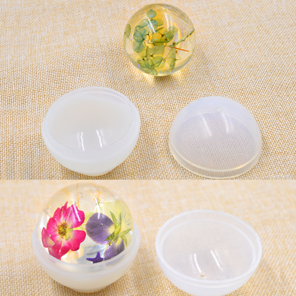 2 Sets Sphere Ball Shape Silicone Mold Mould for Resin Ornament Jewelry Making Craft 20mm цена 2017