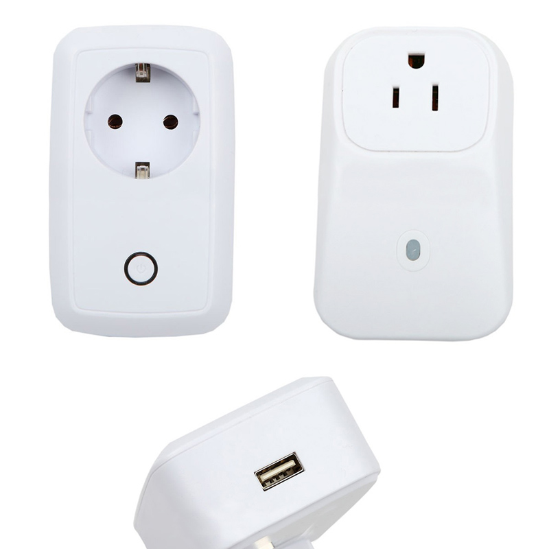 Portable Wireless wifi EU/US Plug Home/Offices Automation Smart Intelligent Power Socket for Android and IOS  XXM kerui alarm accessories wireless remote switch smart power socket plug 433mhz home automation for iphone android phones hot new