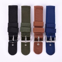 Military Army Nylon Fabric Canva Wrist Watch Band Strap 18/20/22/24mm 4Color Banda de reloj de nylon