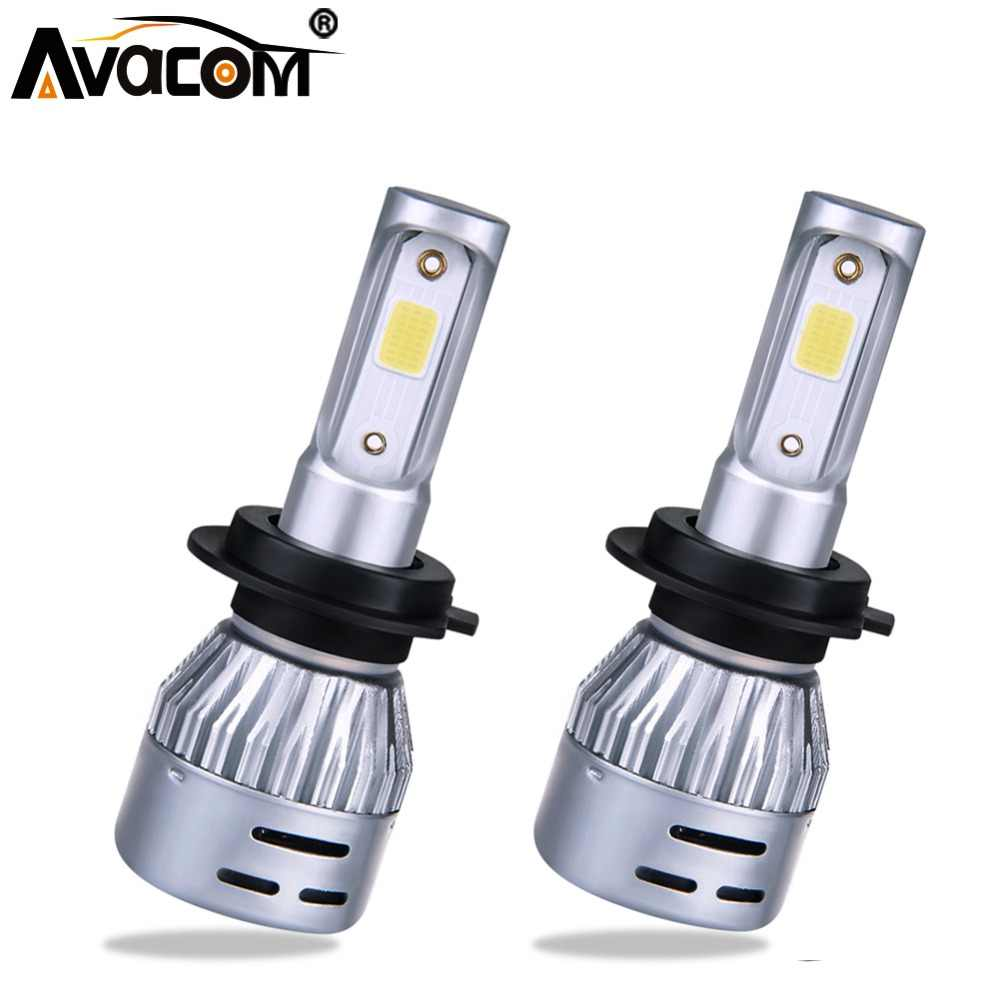 H1 H4 LED 12V 8000lm Mini Car Bulb Headlight H8 H9 H11 HB3 HB4 COB 72W 6500K 3000K 8000K 24V LED H7 Auto Lamp Car Light