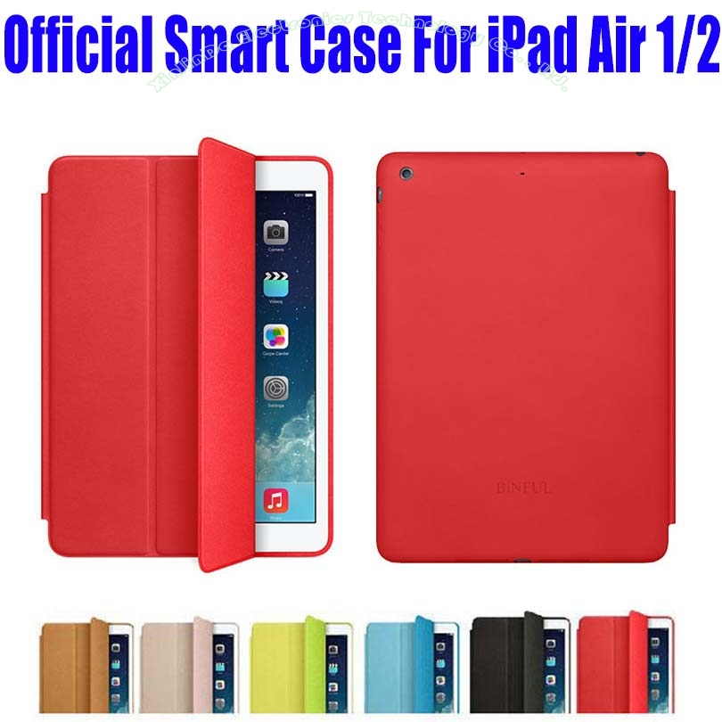 Brand New official Design Fashion PU Leather Smart Case For Apple iPad Air 1 2 Flip Cover Case For iPad 6 + Screen Film NO: I607 brand new case cover for apple ipad air 2 ipad 6 2014 pu leather flip smart stand case two folding folio cases for ipad air 2
