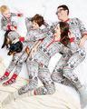 2pcs!!Christmas Gift Family Matching Pajamas Set Kid Baby Boys Girls Cotton Sleepwear Nightwear Pyjamas