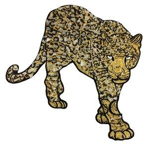 Image 2 - Patch brodé léopard en perles, 2 pièces, à coudre sur paillettes, Appliques danimaux, patchs brodés pour vêtements, AC1472