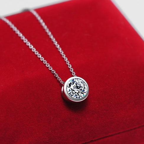 Classic design celebrity wear white gold plated cz diamond round classic design celebrity wear white gold plated cz diamond round pendant necklace for fashion ladies aloadofball Choice Image