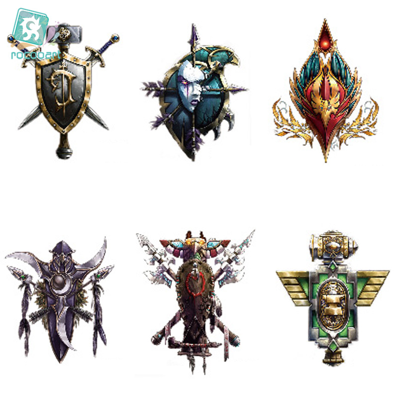 Rocooart LC-886 21*15cm Body Art Warcraft Symbols Large Tatoo Sticker New Designer Temporary Fake Flash Tattoo Stickers Taty
