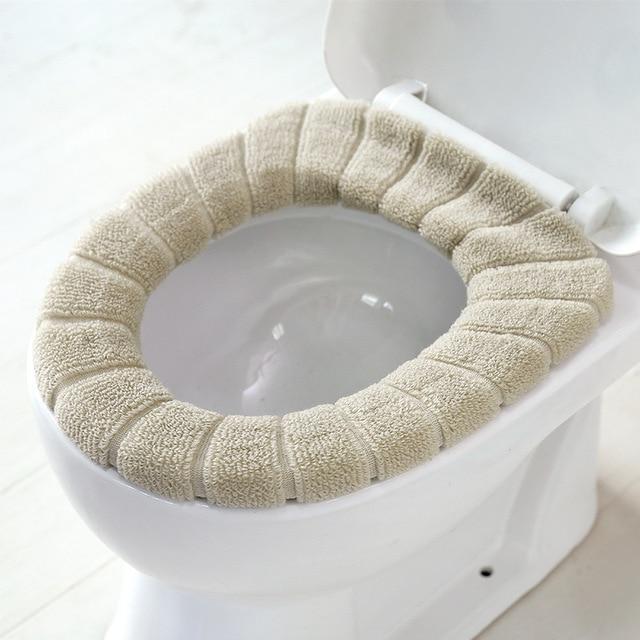 1 個 30 センチメートル暖かいソフトトイレカバーシート蓋パッド浴室 Closestool プロテクター浴室付属品セット便座カバーマット